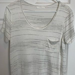 Short sleeve soft stripe tee